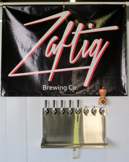 Taps at the Zaftig tasting room.