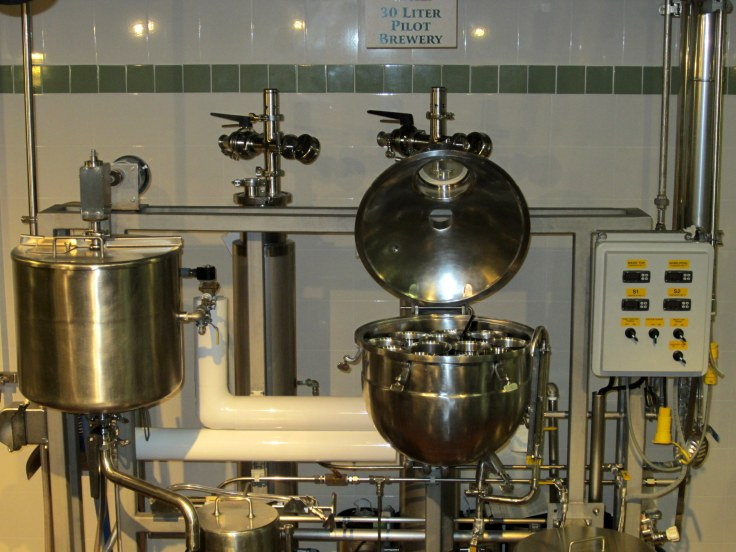 The 30 gallon pilot brewery where new recipes are tested out.