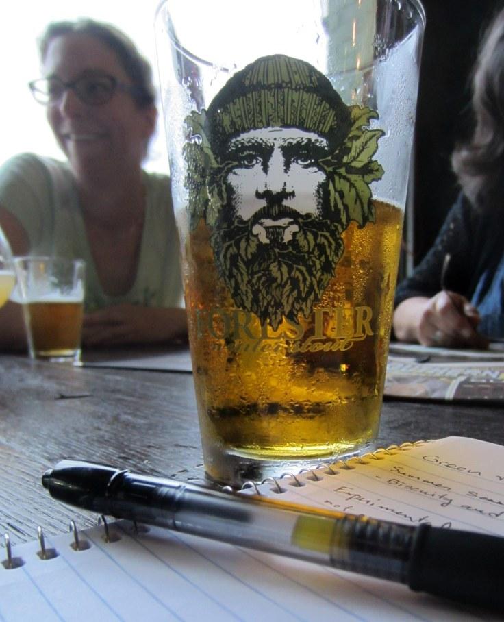 Green Man Pint Glass