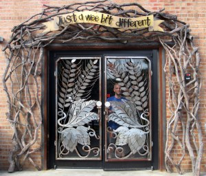 The entrance to the Highland Brewing tasting room.