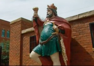King Gambrinus statue in the brewery district.