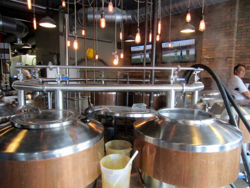 The Brew Kettles at North High Brewing.