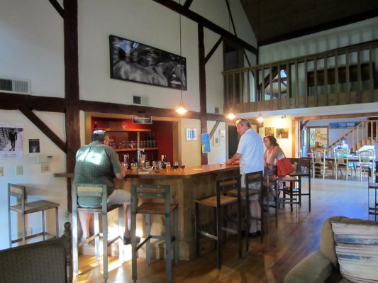 The tap room at Rockmill, a true farmhouse brewery.