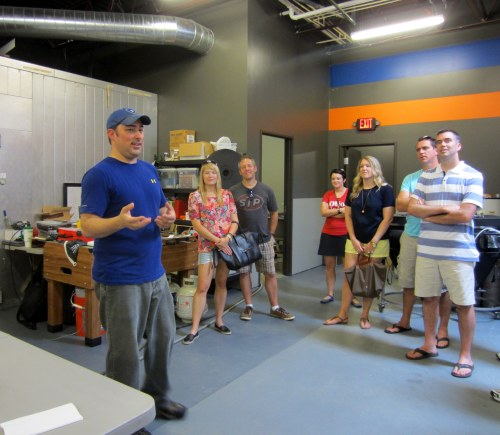 Geoff Towne head brewer at Zauber during the Cbus Brew Adventure tour.