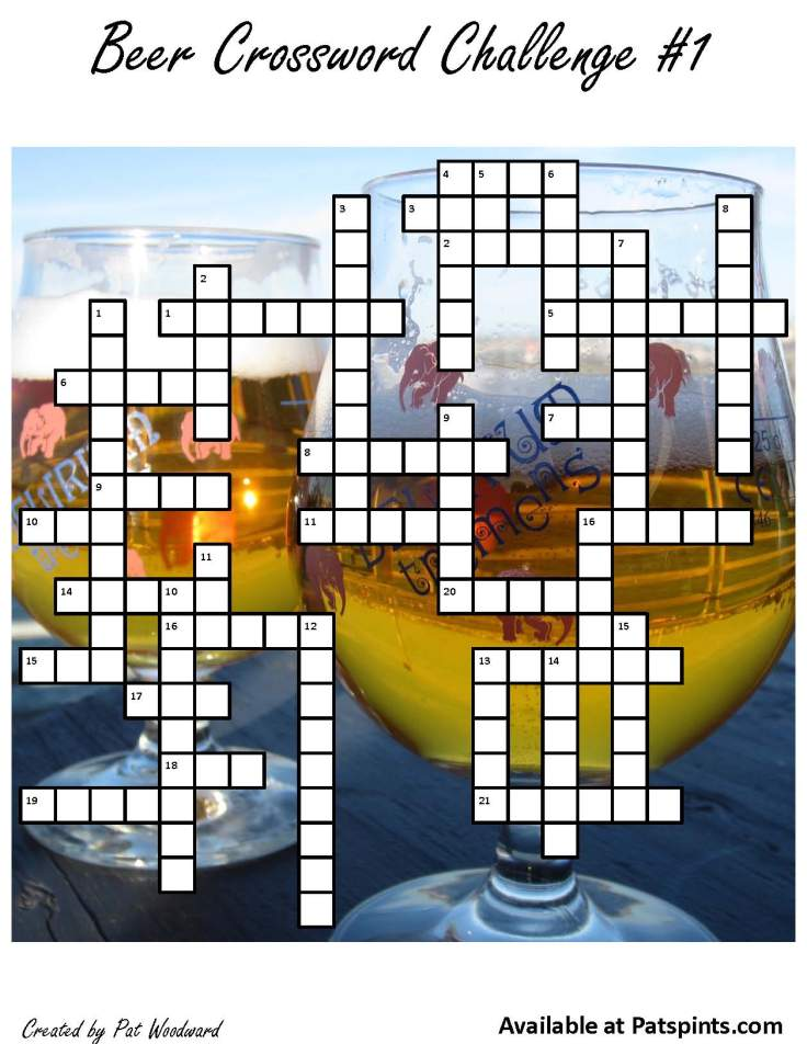 craft beer crossword puzzle