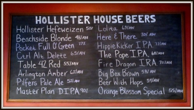 Hollister Menu