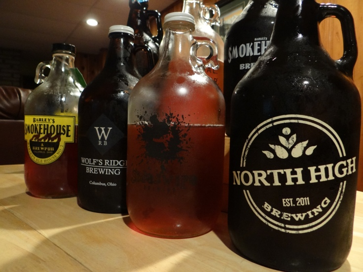 Growlers of IPA
