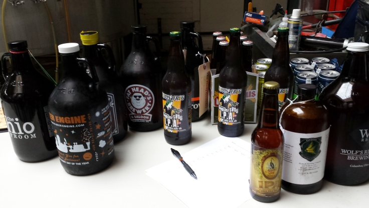 Beers at King of Ohio contest