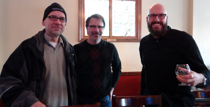 From left to right, Rick Armon, yours truly, and Mark Richards.