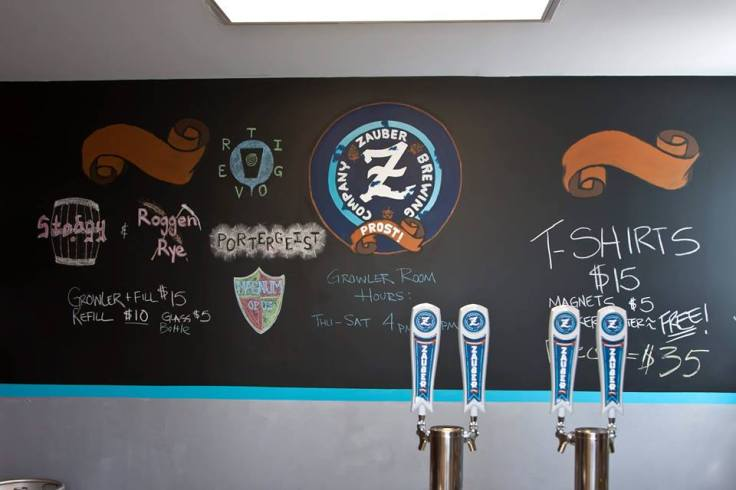 The original Zauber space, when it was just growler fills (thanks to Cheryl Harrison for photo)