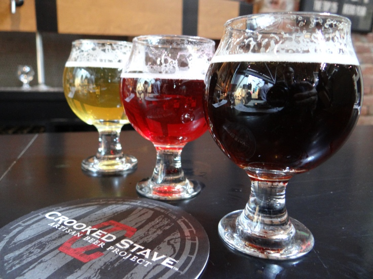 Left to right: Surette, Vielle with cranberry and spice, and St. Bretta Winter.
