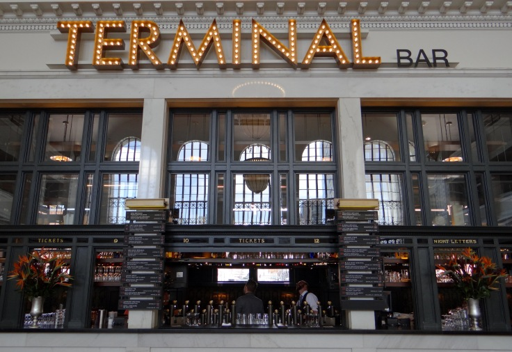 The Terminal Bar in Union Station, zoom in to see the fantastic tap list.
