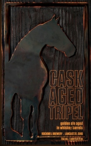 cask aged tripel label