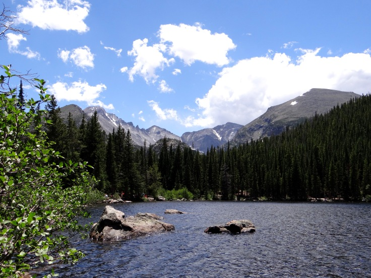 Early afternoon at Bear Lake inside of Rocky Mountain National Park.