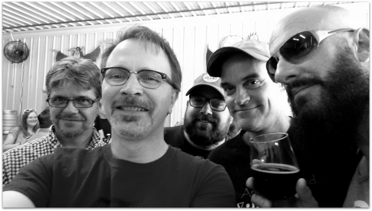 I'm not sure if real spies take selfies, but now that we are out of harms way I can identify the team. From left to right: Hans, myself, Josh, Ted and Mark.