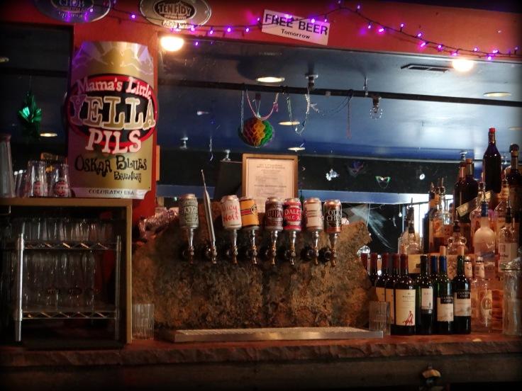 The downstairs bar at Oskar Blues in Lyons.