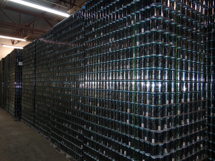 Fred and the crew have their work cut out for them to fill these cans and get them onto the beer drinking public. It could easily be the largest batch of lager brewed in Columbus this century.