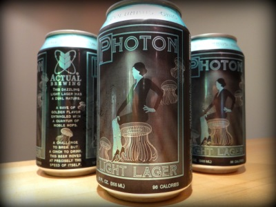 A photon is a massless quantum of light. Actual Brewing's Light Lager is not quite massless but it aspires to that ideal.