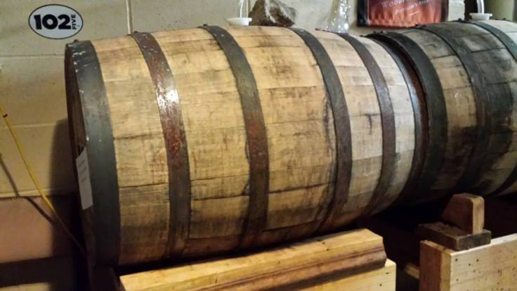 Barrels of Bourbon Meyer age patiently in the basement. It's Bourbon Meyer season so don't let this year pass you by without trying this special treat.