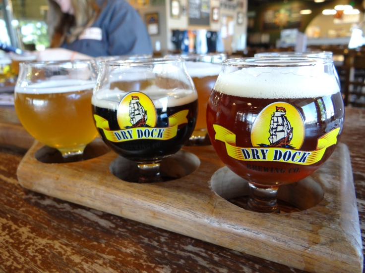 The flights at Dry Dock come in a paddle, in keeping with the overall nautical theme.