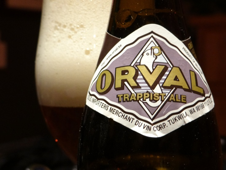 Orval Label and Glass