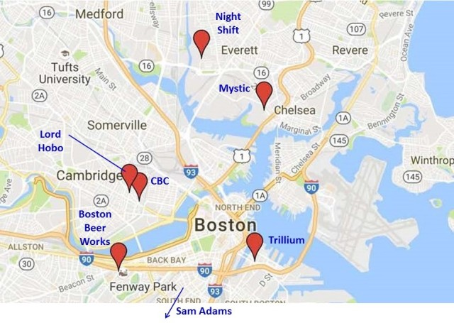 Boston Breweries Map Annotated