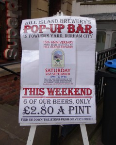 Pop up beer festival