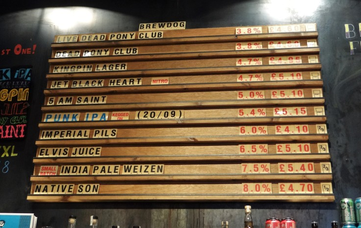 BrewDog Menu Board