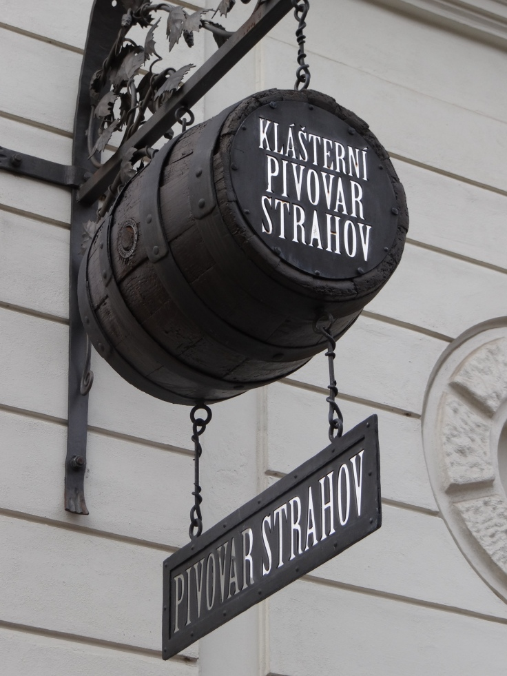 Strahov Brewery Sign