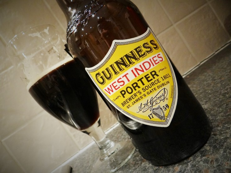 "guinness porter five ""guinness west indies porter was inspired by a recipe devised by our brewers back in 1801, when we first decided to export our legendary porter across the globe"" today, the recipe has been reimagined by our master brewers."
